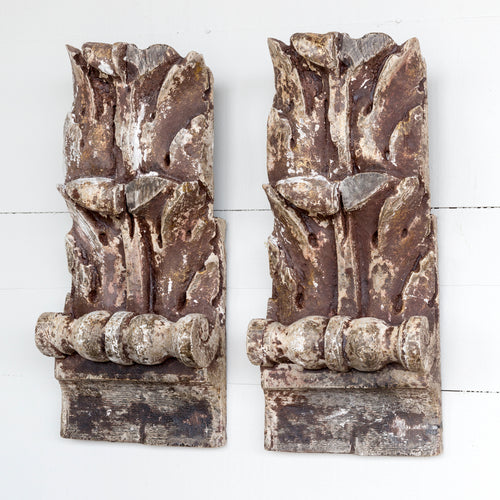 Acanthus Leaf Relic Set of 2