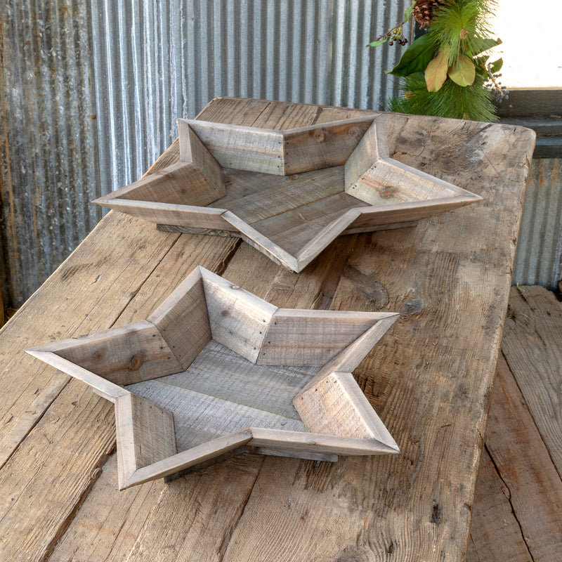Beveled Star Bowls Set of 2