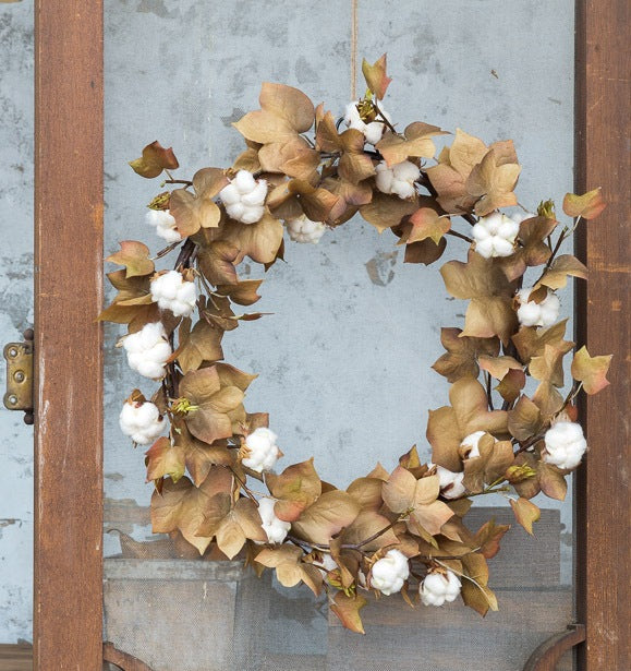 Harvest Cotton Wreath