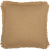 Burlap Natural Pillow w/ Fringed Ruffle 18x18
