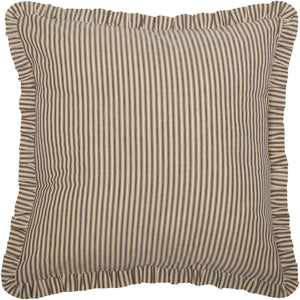 Sawyer Mill Charcoal Ticking Stripe Fabric Euro Sham 26x26