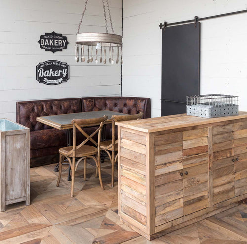 Rustic and Industrial  Cafe Table