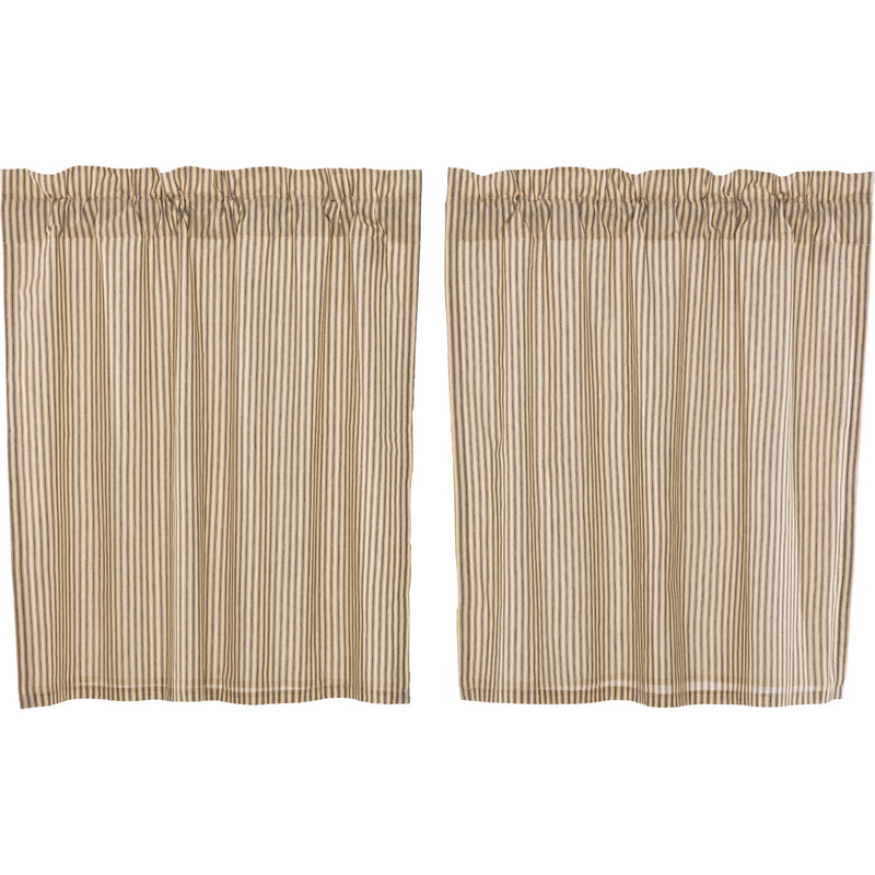 Sawyer Mill Charcoal Ticking Stripe Tier Set of 2