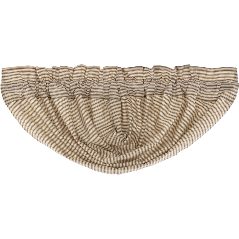 Sawyer Mill Charcoal Ticking Stripe Balloon Valance 15x60