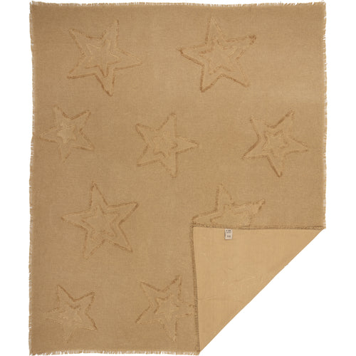 Burlap Natural Star Woven Throw 60x50
