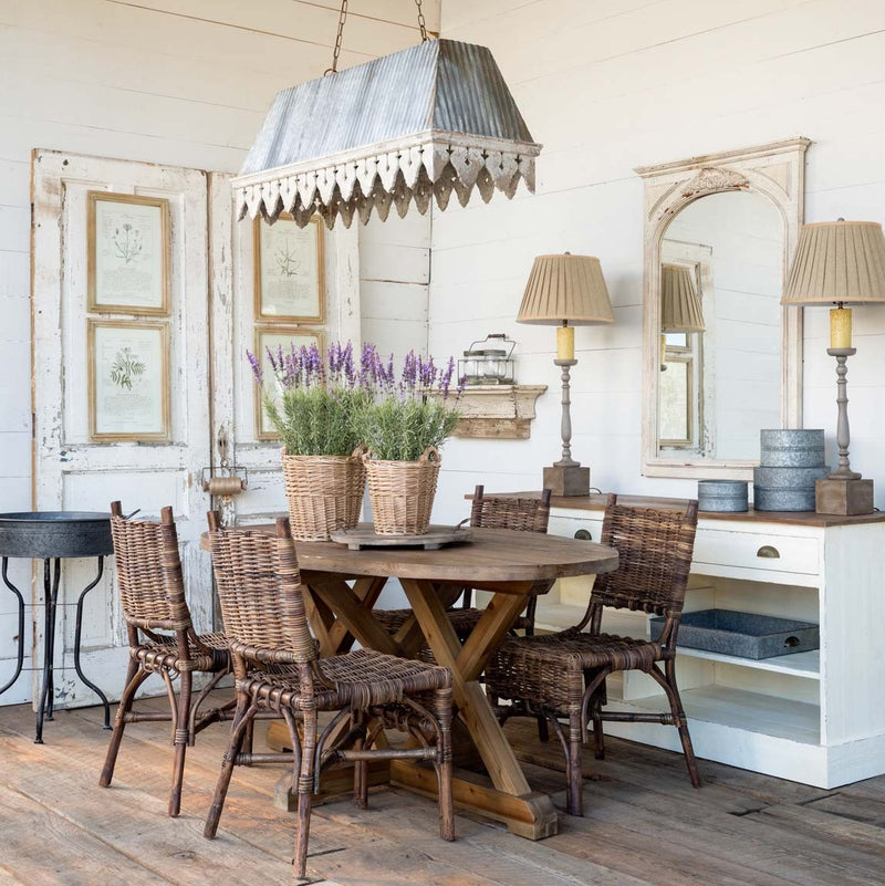 Reclaimed Wooden Trestle Table