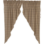 Sawyer Mill Charcoal Plaid Prairie Short Panel Set of 2 63x36x18