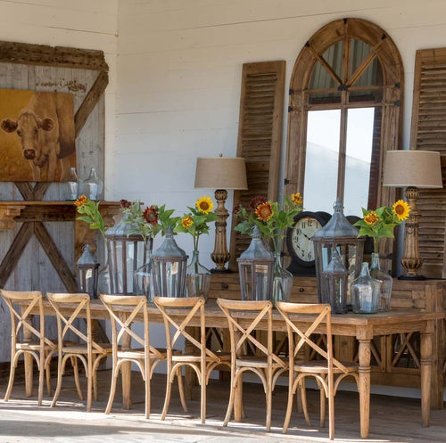 Refined Rustic Wood Farmhouse Table