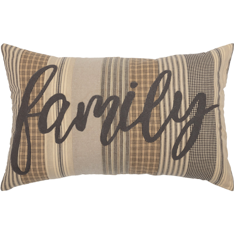 Sawyer Mill Charcoal Family Pillow 14x22