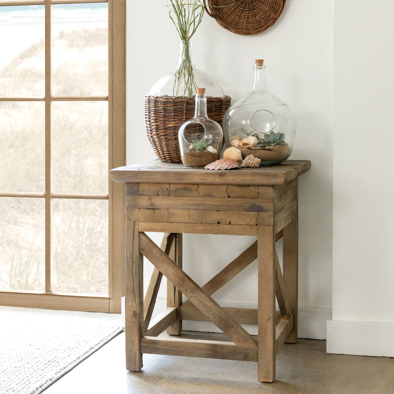 Rustic Primitive Side Table