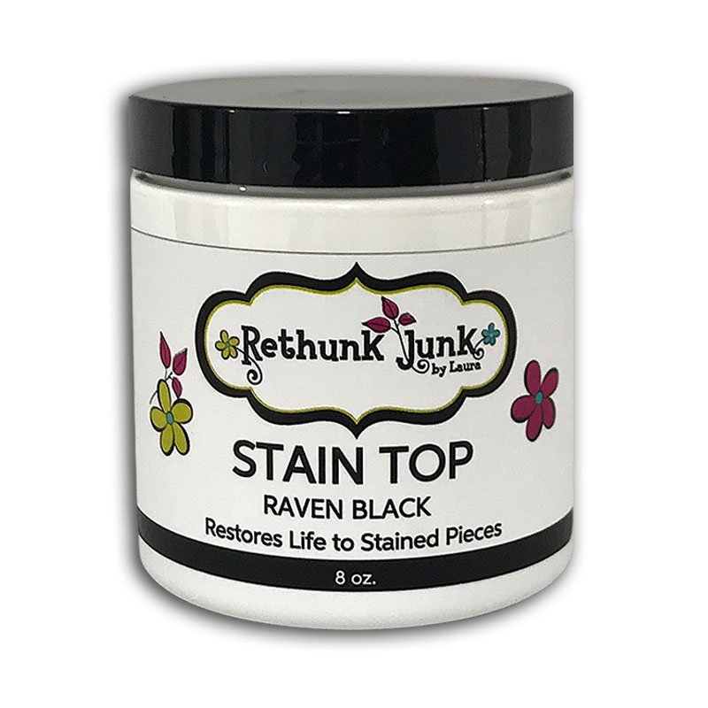 Stain Top Raven Black Rethunk Junk Paint