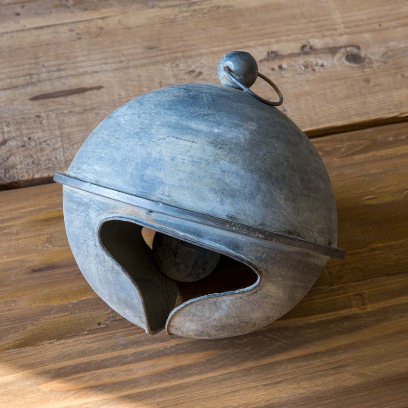 Rustic Tin Holiday Bell - Lg