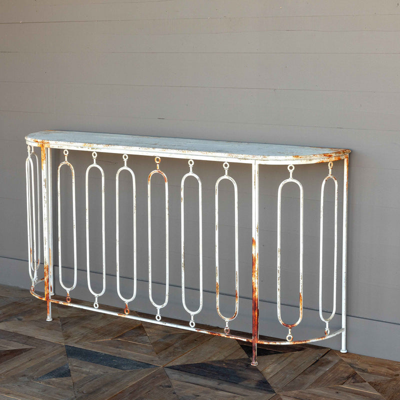French Quarter Styled Metal Console Table