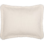 Burlap Antique White Sham w/ Fringed Ruffle