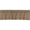 Sawyer Mill Charcoal Plaid Valance