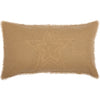 Burlap Natural Star Sham