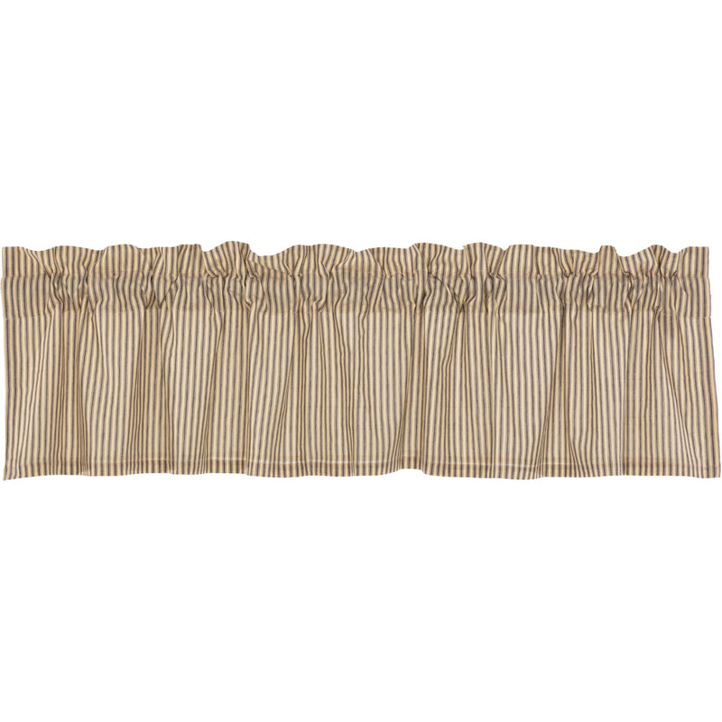 Sawyer Mill Charcoal Ticking Stripe Valance