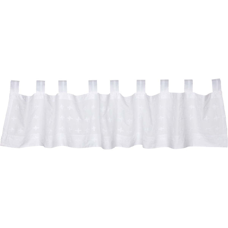 Willow White Tab Top Valance