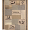 Sawyer Mill Charcoal Farm Animal Quilted Throw 60x50