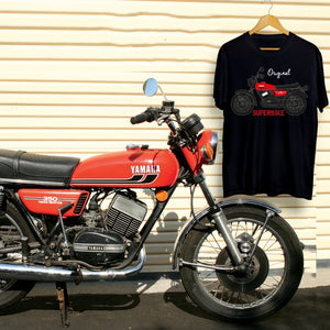 The Original Superbike - RD 350 Rider's T-shirt - story behind the design.