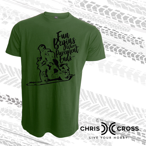 Chris Cross Adventure Dirt Biker T Shirt