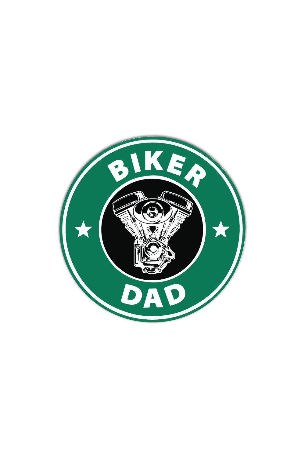 Biker Dad Sticker - ChrisCross.in