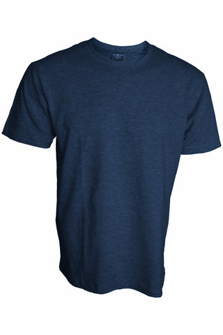 Plain Blue Melange T-Shirt - ChrisCross.in