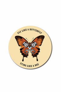 Butterfly Piston Sticker - ChrisCross.in