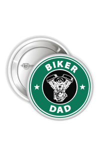 Button Badges - Biker Dad - ChrisCross.in