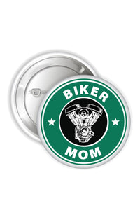 Button Badges - Biker Mom - ChrisCross.in