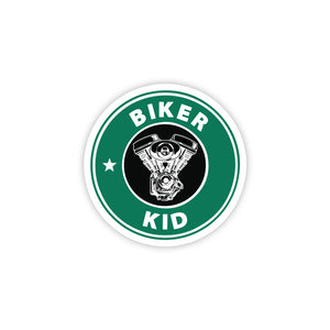 Biker Kid Sticker - ChrisCross.in