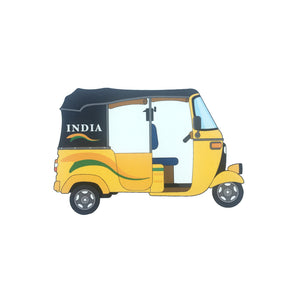 India Auto Richshaw Fridge Magnet - ChrisCross.in
