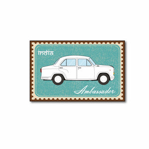 Ambassador Car India Souvenir Fridge Magnet - ChrisCross.in