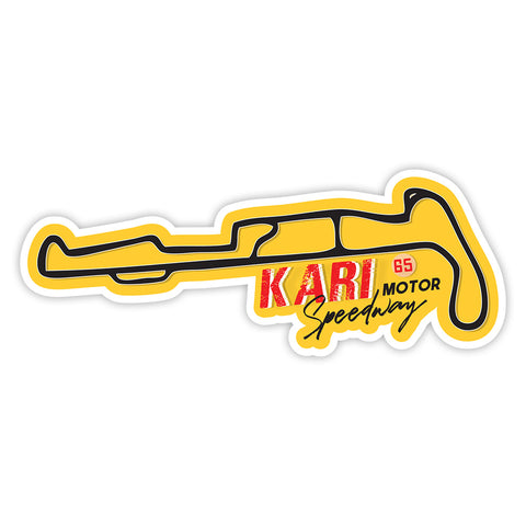 Kari Motor Speedway Sticker - ChrisCross.in