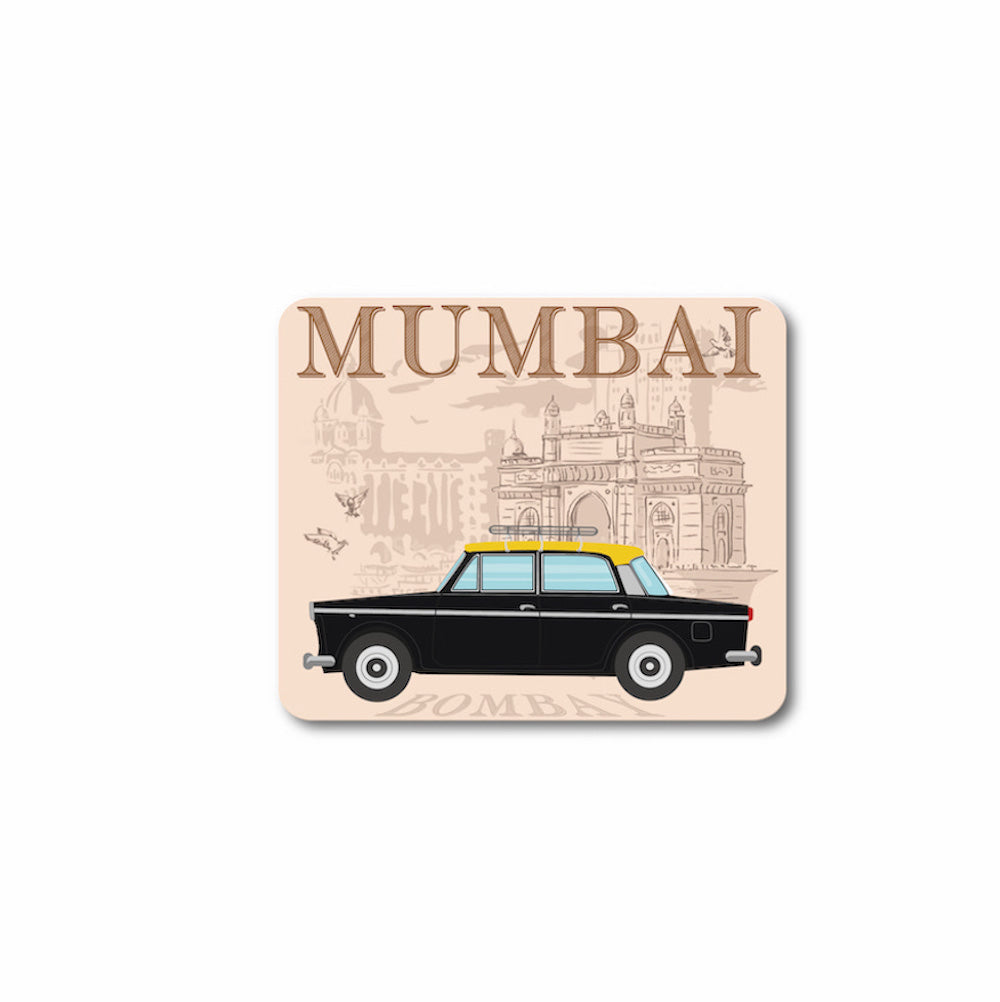 Fiat Padmini Mumbai Taxi Souvenir Fridge Magnet - ChrisCross.in