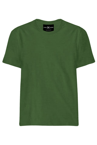 Plain Olive Green T-Shirt - ChrisCross.in