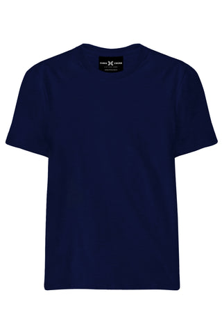 Plain Navy Blue T-Shirt - ChrisCross.in