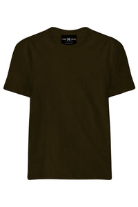 Plain Chocolate Brown T-Shirt - ChrisCross.in