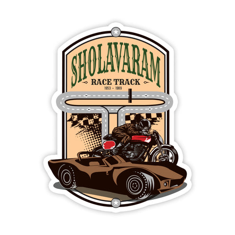 Sholavaram Race Track Sticker - ChrisCross.in