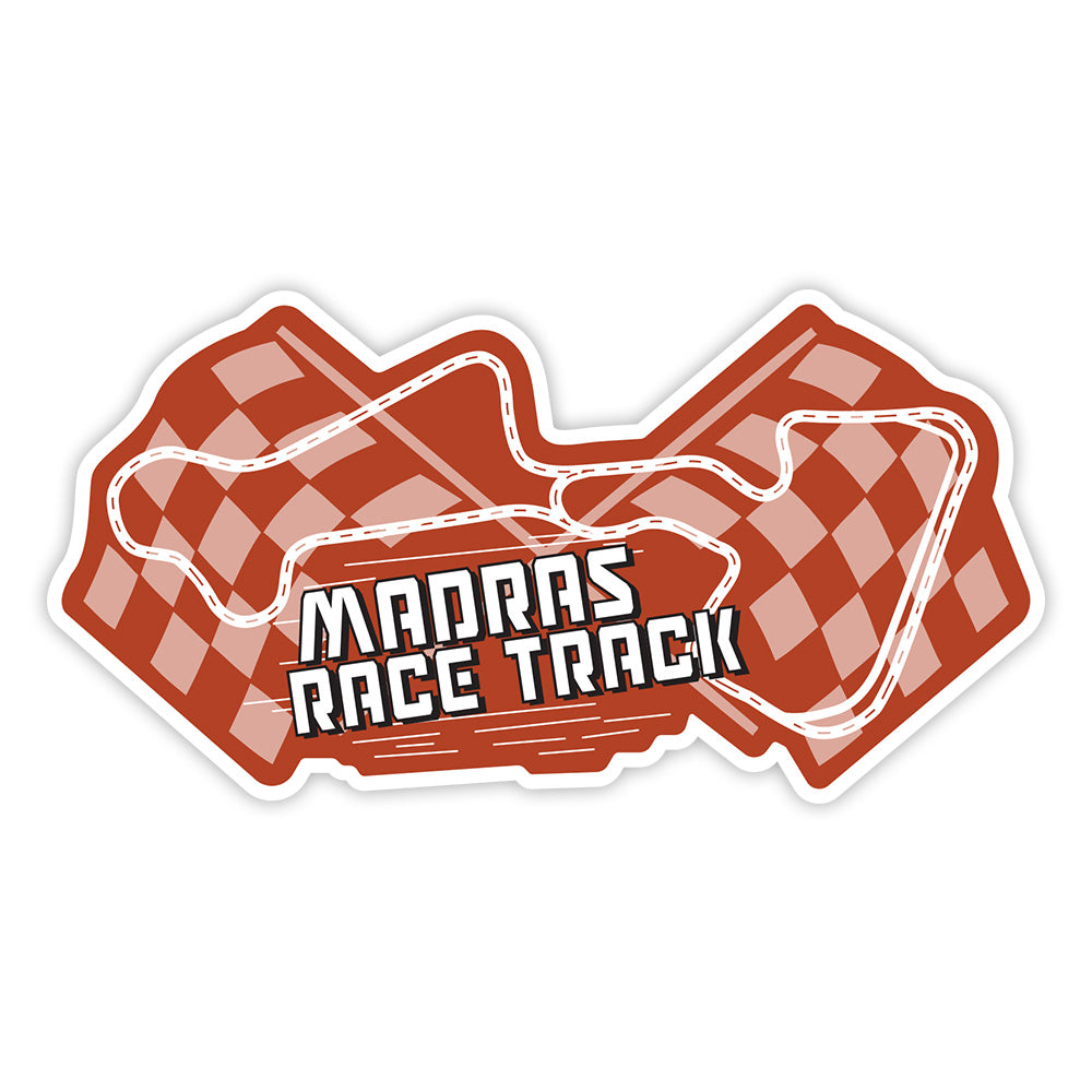 Madras Motor Race Track Sticker - ChrisCross.in