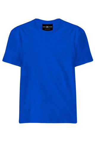 Plain Royal Blue T-Shirt - ChrisCross.in