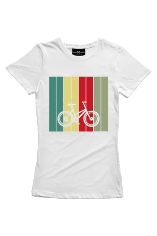 Pastel Cycle (White) Women's T-Shirt - ChrisCross.in