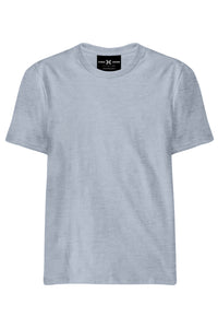 Plain Grey Melange T-Shirt - ChrisCross.in