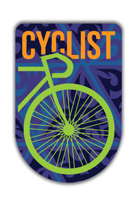 Cyclist Sticker - ChrisCross.in