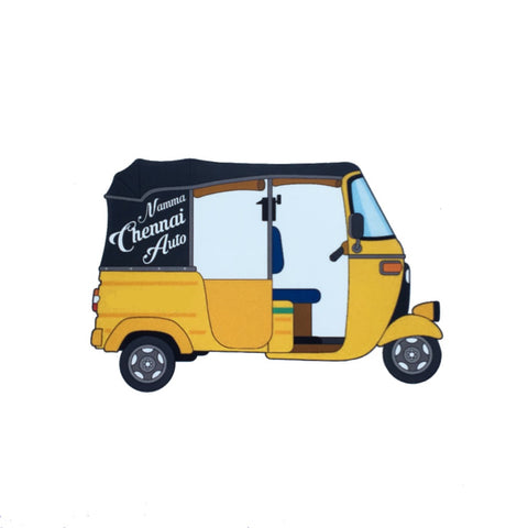 Chennai Auto Richshaw Fridge Magnet - ChrisCross.in