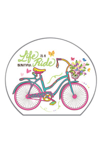 Beautiful Ride Cycle Sticker - ChrisCross.in