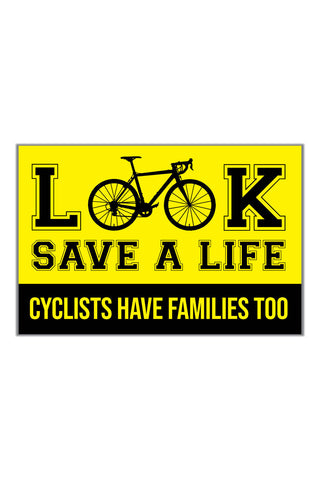 Look Out For Cyclist Sticker - ChrisCross.in