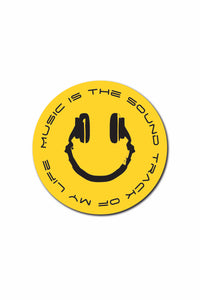 Music Smily Sticker - ChrisCross.in