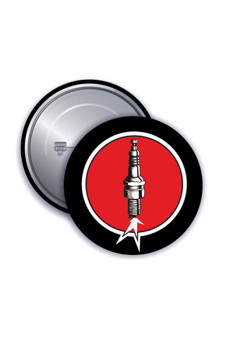 Button Badges - Spark Plug - ChrisCross.in