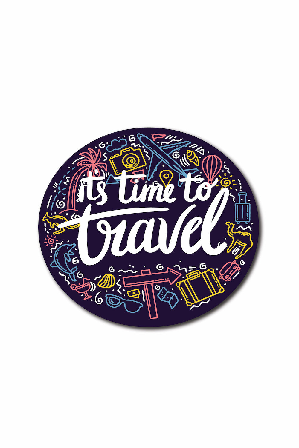 Time To Travel Sticker - ChrisCross.in